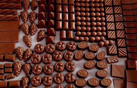 Milk and dark chocolate selection Crystal Chocolatier