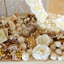 Chocolate decoration for Wedding golden theme
