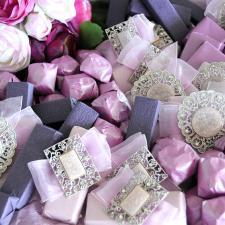 Chocolate decoration for Wedding purple theme