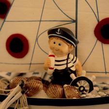 Newborn chocolate decoration boy marines theme