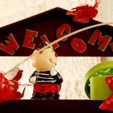 Newborn chocolate decoration red theme