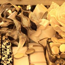 Chocolate decoration for Wedding black and white